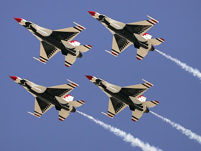 United States Air Force Thunderbirds - Diamond Form Raising - USAF New Release