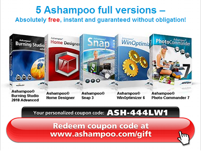 5 Ashampoo® Full Versions