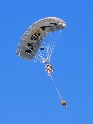 USAF CCT HALO Jump - Team Member Descending