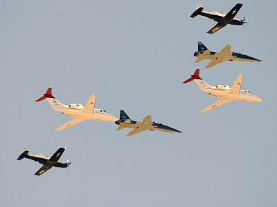 AETC, Air Education and Training Command Composite Flyby - T1 Jayhawk, T6 Teaxn, T38 Talon