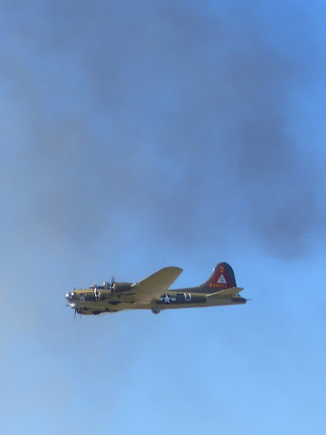 Lackland AFB Air Fest: B-17 Flying Fortress in Smoke