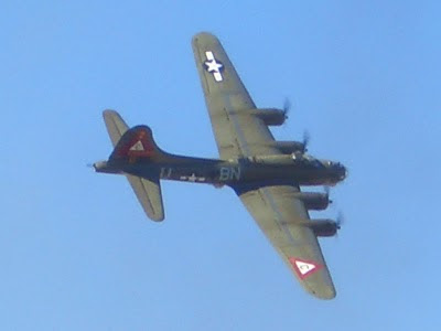 Lackland AFB Air Fest: B-17 Flying Fortress Flyby