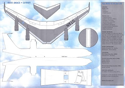 Lackland AFB Air Fest: NATO E-3A Paper Aircraft - Back Side