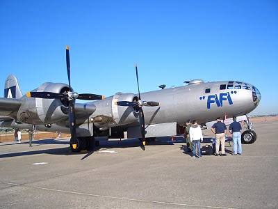 Lackland AFB Air Fest: B-29 Superfortress with Viewers