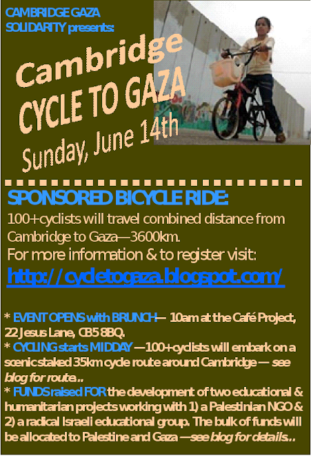 Cycle to Gaza Poster