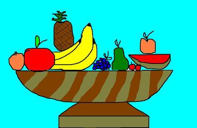 Clase de Arte/Dibujo (4º ESO [1]) Frutas+Lorena+Corella