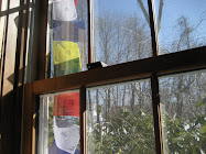My Prayer Flags outside my sewing room
