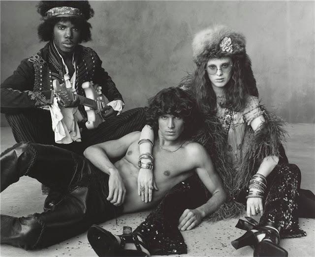[8+Cyrille+Victor+as+Jimi+Hendrix,+Matt+Duffie+as+Jim+Morrison,+and+Karen+Elson+as+Janis+Joplin.jpg]
