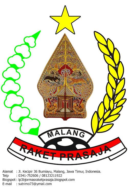 "Logo LP3BJ & ORMAS ""Raket Prasaja"""