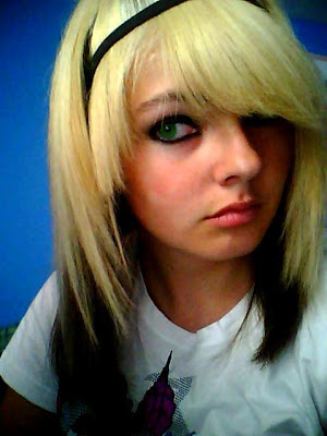 cool blonde emo haircuts are very good and fit made by all people girl