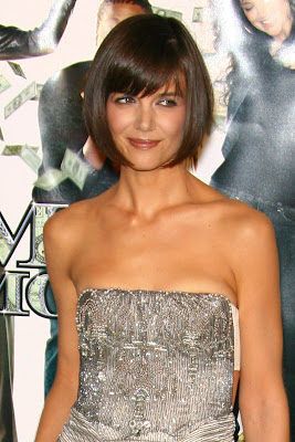 Katie Holmes Very Short Hairstyles For Round Faces