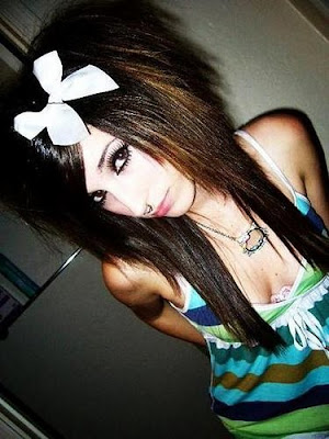 Cute Emo Girl face with Bows