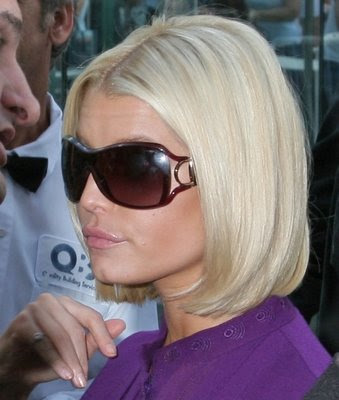 Jessica Simpson Blonde Bob Hairstyle