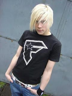 Blonde Emo  Boy