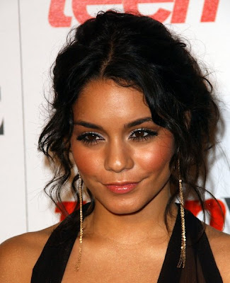 vanessa hudgens up hairstyles. vanessa hudgens messy bun