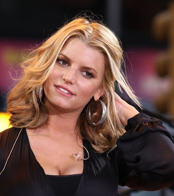 jessica simpson updo hairstyles. Jessica Simpson Blond and Wavy