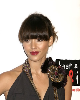 jessica alba updo hairstyles. Long Hairstyles With Bangs