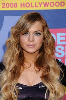lindsay lohan hair color