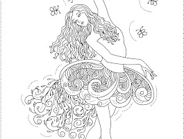Ballerina Coloring Pages To Print Out