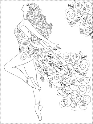 Nicole 39 s free coloring pages ballerina primavera ballet for Free ballet coloring pages