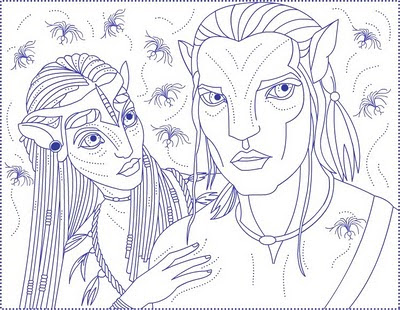 Avatar coloring pages for kids