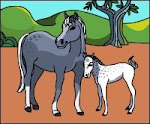 If you like horses browse my coloring pages with horses!