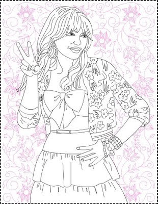 Hannah Montana 3 Coloring Pages Image Search Results