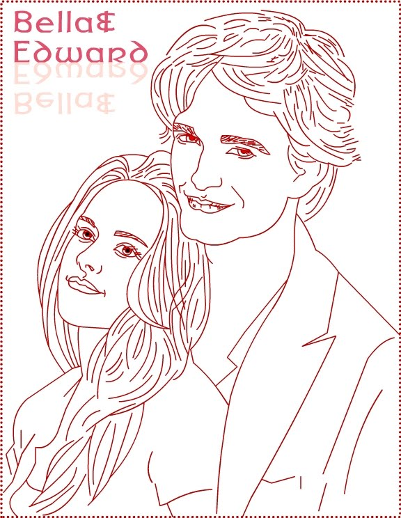 Twilight Bella Coloring Pages widescreen