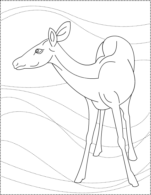 Dear to me! Deer * coloring pages title=