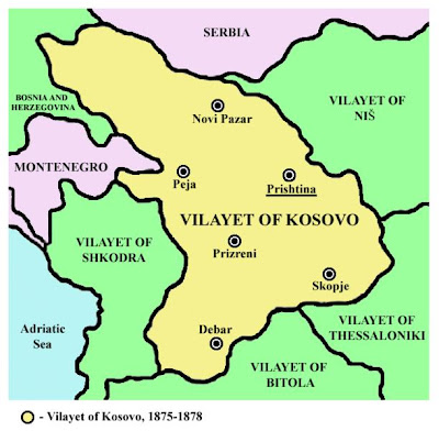 Here are two maps of the Ottoman Vilayet of Kosovo.