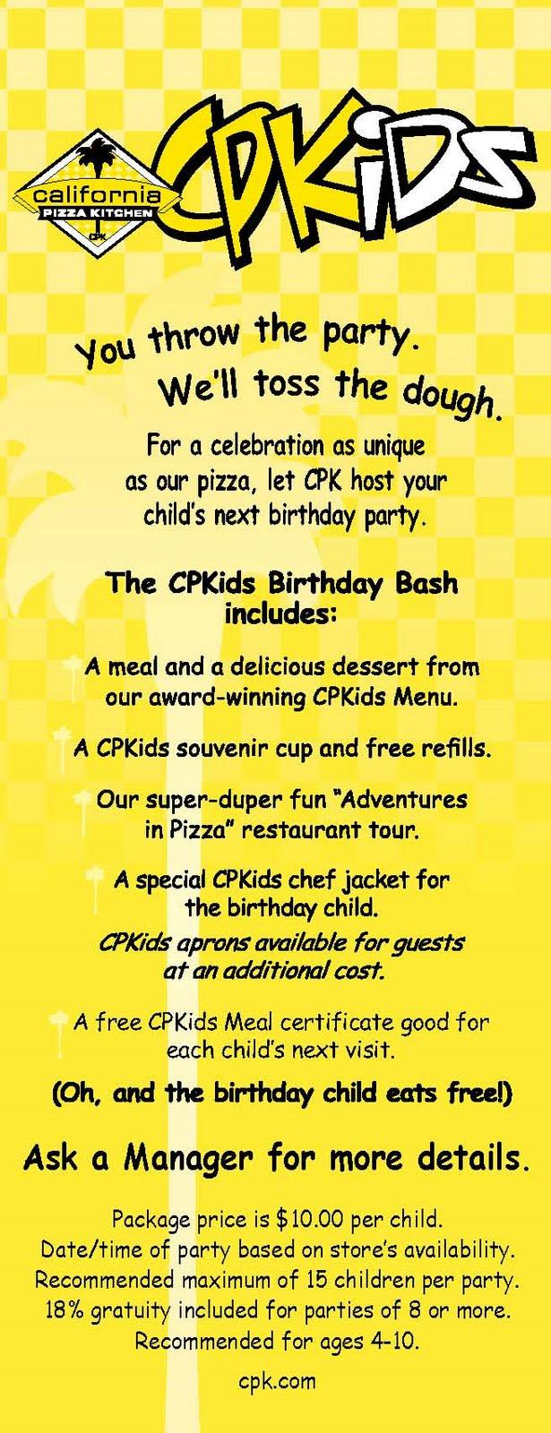kevin cooks california pizza kitchen cpkids birthday bash rh kevin cooks blogspot com