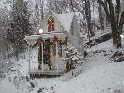 My Shabby Streamside Studio My Christmas Snow House Village