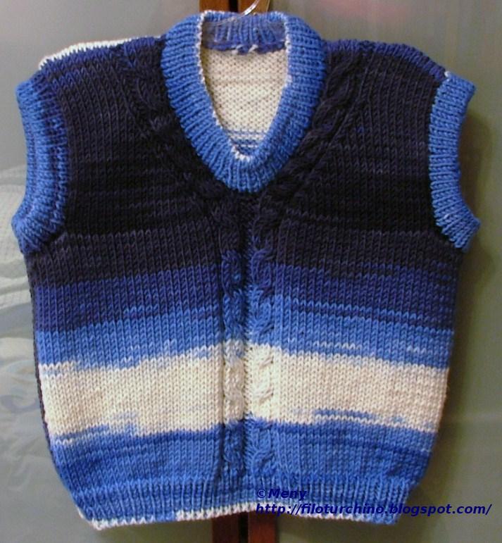 Extrêmement filoturchino: Gilet baby RU04