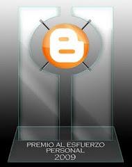 Premio Esfuerzo Personal 2009