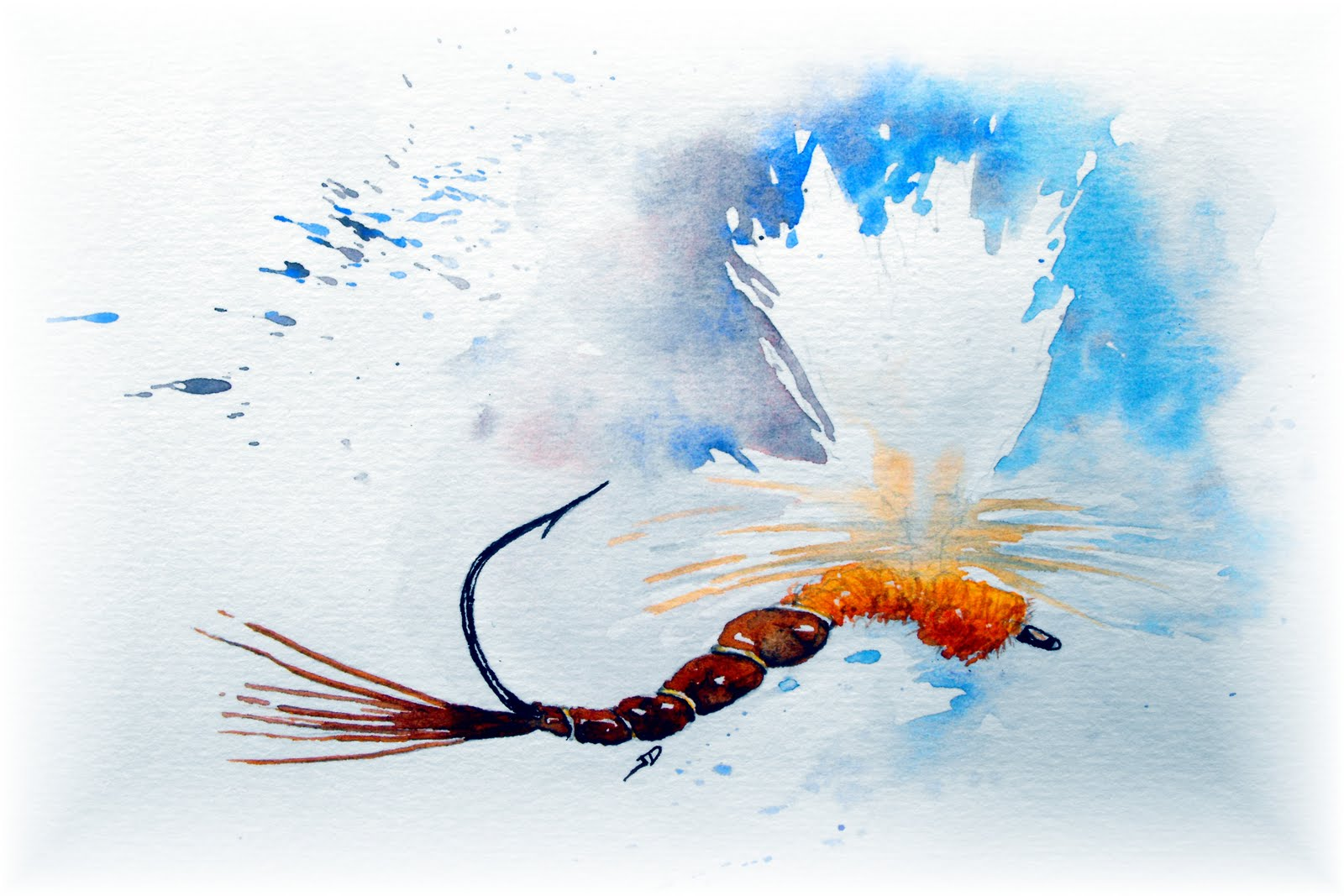 fly fishing drawing - photo #11