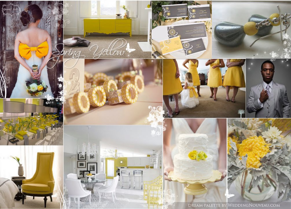 And of course I had do find some cute gray and yellow weddings as