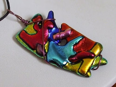 FunnyFuser, Wearable Art, Fused Glass Art, Fused Glass Jewerly