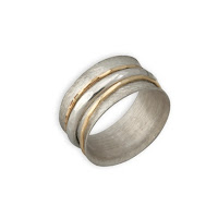 Multi tone gold designer spinner rings, David Tishbi, handcrafted wedding rings
