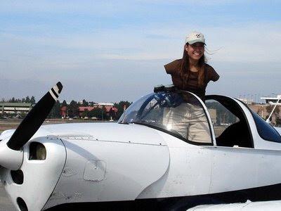 Jessica cox-inside the plane