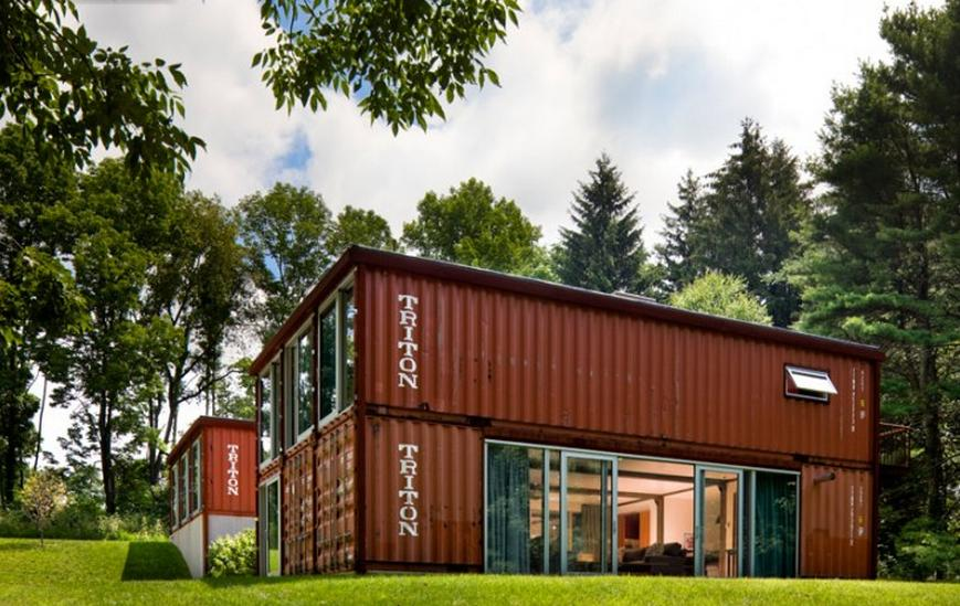 Review beautiful shipping container home in nj - Cargo container homes ...