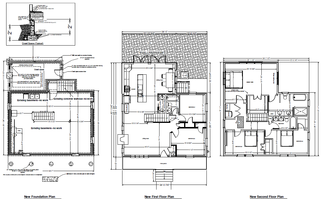 Kitchen addition floor plans addition garage whitby drive for Kitchen addition plans