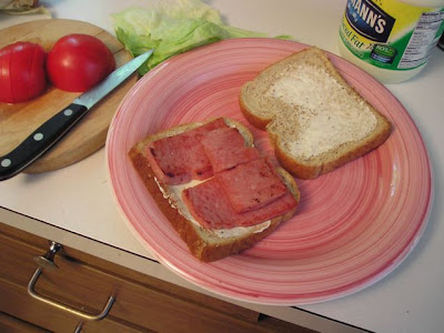fried spam sandwich