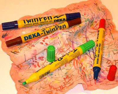 Pennarelli indelebili per la stoffa Twin Pen DEKA a doppia punta