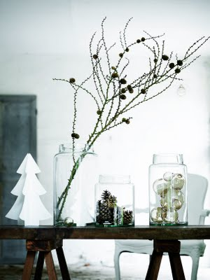 christmas decorations a la danish designer tine k she combines nature with simple shapes in a way that i think is the definition of scandinavian design