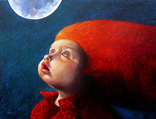 Laimonas Šmergelis 1972 | Lithuanian Surrealist painter | Children in art
