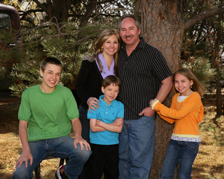 Dad, mom, and the kiddos