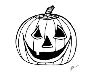 pumpkin face coloring pages