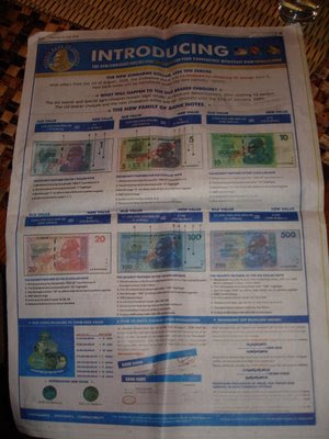 the zimbabwean herald explaining the revalued zim dollar one wonders