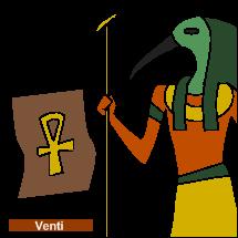 Dios Toth y papiro con Ank