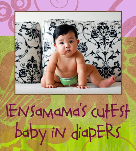 'lensaMama's Cutes Baby in Diapers'